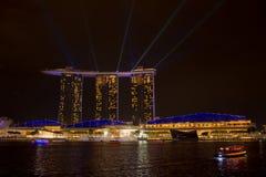 Jachthafenbuchtsande, SINGAPUR 14. Juni 2015: Ansicht von Jachthafenbucht sa Stockfotografie