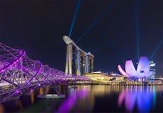 Jachthafenbuchtsande und Schneckenbrücke, Singapur 17/10/2016 Lizenzfreie Stockfotografie