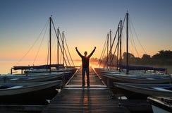 Jachthafenfreude Stockbilder