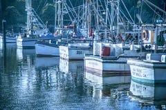 Jachthafenpier Stockbilder