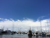 Jachthafentrugbild Lizenzfreie Stockfotos