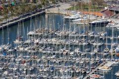 Jachthaven in Barcelona Stock Afbeeldingen