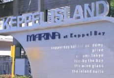 Jachthaven bij Keppel-Baai Singapore royalty-vrije stock fotografie