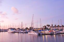 Jachthaven bij Schemering Royalty-vrije Stock Fotografie