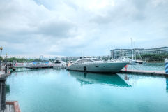 Jachthaven bij Sentosa-Inham, Singapore Stock Afbeelding