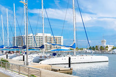Jachthaven bij Varadero strand in Cuba royalty-vrije stock afbeelding