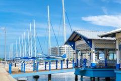 Jachthaven bij Varadero strand in Cuba royalty-vrije stock foto