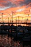 Jachthaven bij Zonsopgang stock foto's