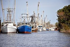 Jachthaven bij Zwaankwart Noord-Carolina royalty-vrije stock foto's