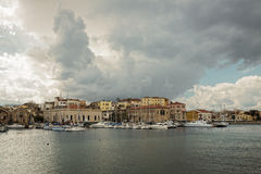 Jachthaven in Chania Stock Foto