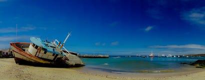 Jachthaven in de cristobal de Galapagos eilanden Ecuador van San stock foto's