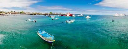 Jachthaven in de cristobal de Galapagos eilanden Ecuador van San royalty-vrije stock afbeeldingen