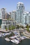 Jachthaven de Van de binnenstad van Vancouver Royalty-vrije Stock Foto's