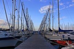 Jachthaven in Duitsland Stock Fotografie