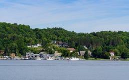 Jachthaven en boten in Penetanguishene, Ontario Stock Foto's