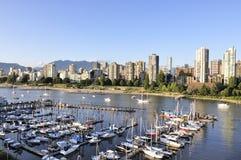 Jachthaven in het hart van Vancouver Stock Foto's