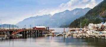 Jachthaven in Hoefijzerbaai in West-Vancouver. Royalty-vrije Stock Foto