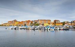 Jachthaven in Karlskrona Royalty-vrije Stock Foto's