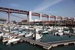 Jachthaven in Lissabon, Portugal Stock Afbeeldingen