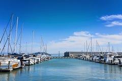 Jachthaven met boten, San Francisco, Californië Royalty-vrije Stock Afbeelding