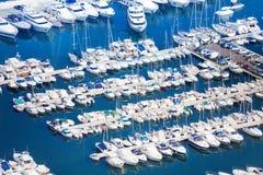 Jachthaven in Monaco op Middellandse Zee Stock Afbeelding