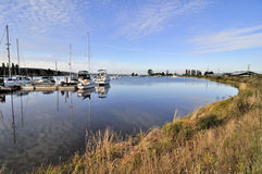 Jachthaven op Rivier Nicomekl Royalty-vrije Stock Foto's