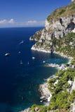 Jachthaven Picola - Capri Stock Afbeelding