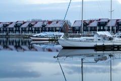 Jachthaven Reitdiep w Groningen Fotografia Stock