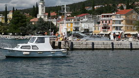 Jachthaven in Selce stock footage