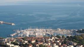 Jachthaven in Spleet, Kroatië stock footage