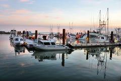 Jachthaven in Steveston, BC stock afbeeldingen