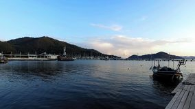 Jachthaven in Turkije stock footage
