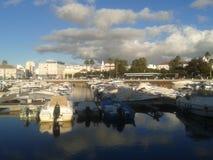 Jachthaven van Faro Stock Afbeeldingen