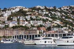 Jachthaven van Rozen, Spanje Stock Afbeeldingen