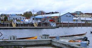 Jachthavenmening van Burlington, Vermont stock foto's