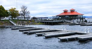 Jachthavenscène in Burlington, Vermont royalty-vrije stock foto