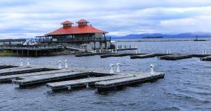 Jachthavenscène van Burlington, Vermont royalty-vrije stock afbeeldingen