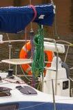 Jachting, części żaglówka w porcie żeglowanie Obraz Royalty Free