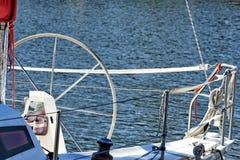 Jachting. Części jacht. Szczegół żeglowanie łódź Obraz Royalty Free