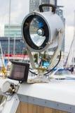 Jachting, części stara żaglówka w porcie żeglowanie Zdjęcie Stock