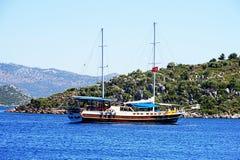 Jachting i morze Fotografia Royalty Free