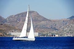 Jachting i morze Zdjęcia Royalty Free