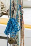 Jachting, kolorowa arkana na żaglówce, szczegóły jacht fotografia royalty free
