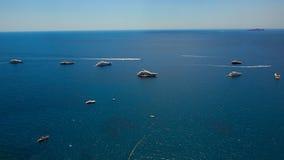 Jachting na morzu śródziemnomorskim, Capri wyspa, Europa Zdjęcie Royalty Free
