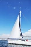 Jachting w otwartym morzu Obrazy Royalty Free