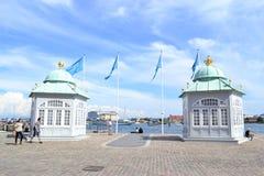 Jachtpost voor de Koningin, Kopenhagen, Denemarken Royalty-vrije Stock Afbeeldingen