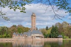 Jachtsloten Sint Hubertus Castle i Holland Arkivfoton