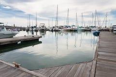 Jachtu żagla łodzi kurtyzaci port Obraz Royalty Free