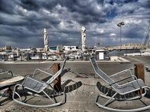 Jachtu Jaffa portu Israel nieba restauracyjni Obraz Royalty Free