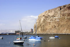 Jachtu klub Arica, Chile Obraz Stock